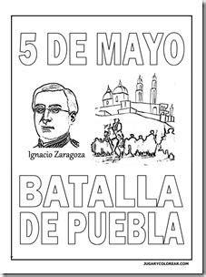 Colorear 5 de Mayo, batalla de Puebla para niños | Jugar y ...