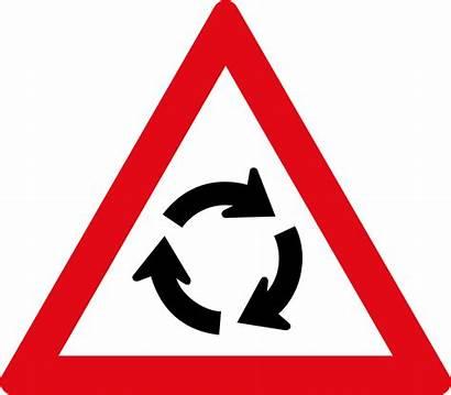 Road Sign Roundabout Traffic Signs Circle Warning