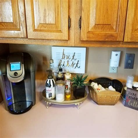 This coffee bar sideboard began life as upper kitchen cabinets. Kitchen Coffee Bar Ideas - 30+ Kitchen Coffee Bar PICTURES