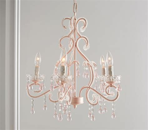 pink chandelier for nursery pink lydia chandelier pottery barn