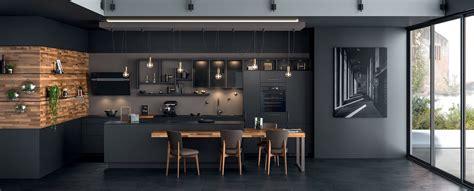 cuisine moderne îlot type loft ambiance black mobalpa