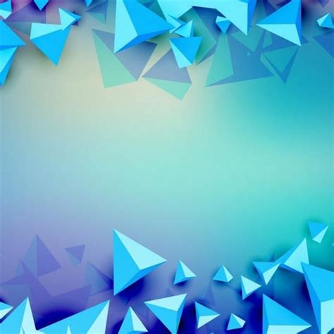 Abstract Geometric Shapes Transparent Background by 3d Triangle Futuristic Blue Background Futuristic Modern