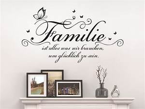 Wandtattoo Sprüche Familie : wandtattoo familie ist alles klebeheld de ~ Frokenaadalensverden.com Haus und Dekorationen