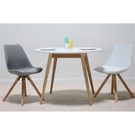 lena blanc table 224 manger ronde 100 cm en bois au design scandinave