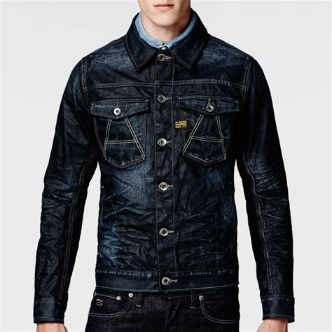 star raw  crotch slim jacket men jackets