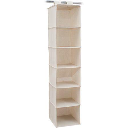 walmart shelf organizer mainstays 6 shelf organizer walmart