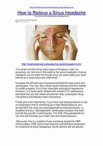 How To Relieve A Sinus Headache