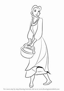 Learn How To Draw Peasant Belle From Beauty And The Beast