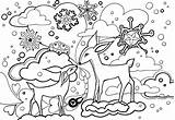 Coloring Winter Pages Forest Printable Colouring Books Scene Enchanted Hog Finished Printables Animals Animal Sheets Rocks Print Christmas Awesome Quotes sketch template