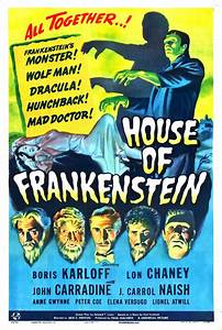 Obscure Video And DVD Blog: HOUSE OF FRANKENSTEIN 1944 ...