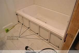 Tiling A Bathtub Skirt diy tub skirt decorative side panel for a standard apron