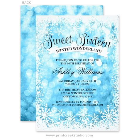 Sweet 16 Winter Wonderland Blue Glitter Lights Invitations. Resume Builder Login. Instagram Post Template Psd. Rn Resume Template. Reception Seating Chart Maker Template. Sample Claims Adjuster Resumes Template. Credit Application Form For Business. Convert Spreadsheet To Database. Graduation Invitations Templates Free