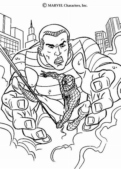 Sandman Action Coloring Pages Spiderman Spider Heroes