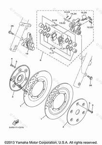 Yamaha Motorcycle 2010 Oem Parts Diagram For Front Brake