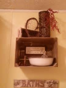 primitive bathroom decor for the home pinterest