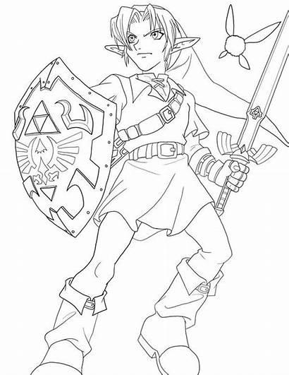 Link Lineart Zelda Phoenix Deviantart Frozen Updated