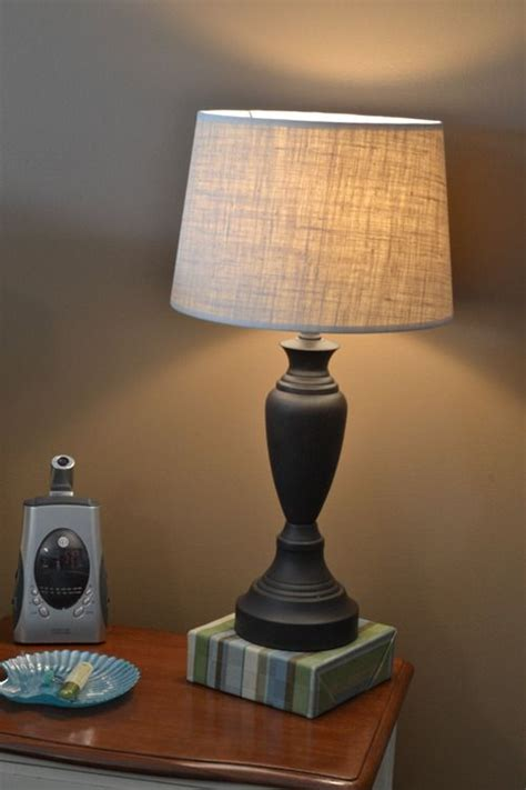 simple burlap lampshade infarrantly creative