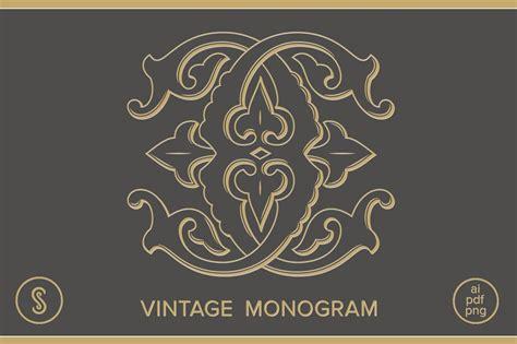 cc monogram illustrations creative market