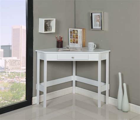 modern white desk with drawers modern white painted oak wood corner desk with storage