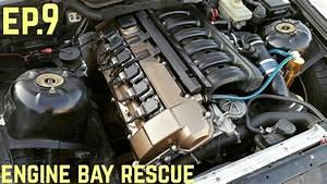 Engine Bay Touch Up    Bmw E36 325i  U0026quot Sharkcar U0026quot  Drift Build Ep  9