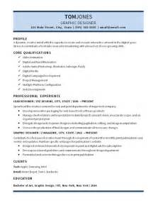 lead graphic designer resume exle digital media