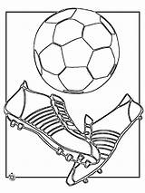 Soccer Coloring Pages Ball Player Boys Printable Players Foot Cleats Recommended Templates Template sketch template