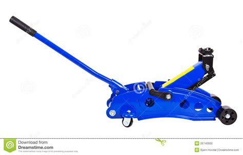 Hydraulic Floor Jack Stock Photo. Image Of Metal