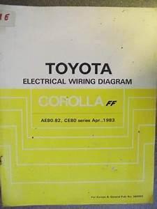 Toyota Corolla Ff Electrical Wiring Diagram Manual 1983
