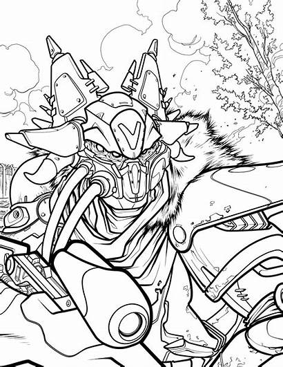 Destiny Coloring Official Coloriage Adult Character Bungie