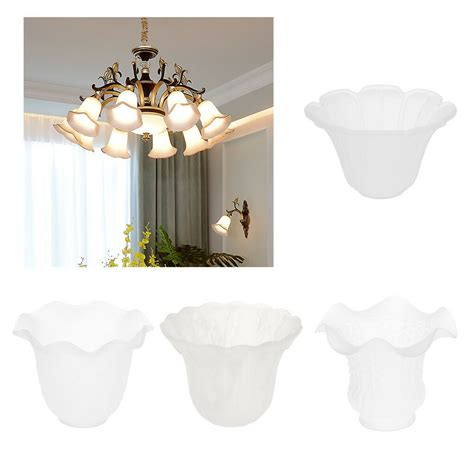 frosted white glass flower petal replacement shade for ceiling light wall sconce ebay