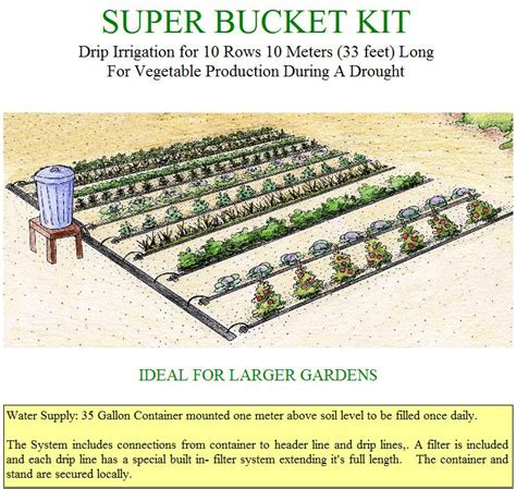 gravity drip irrigation systems for vegetable