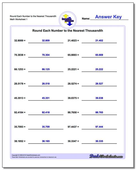 simple rounding  decimals