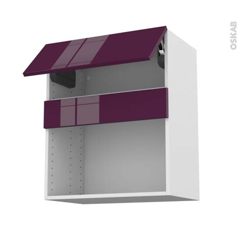 cuisine mo meuble de cuisine haut mo encastrable niche 38 keria aubergine 1 abattant l60 x h70 x p37 cm oskab