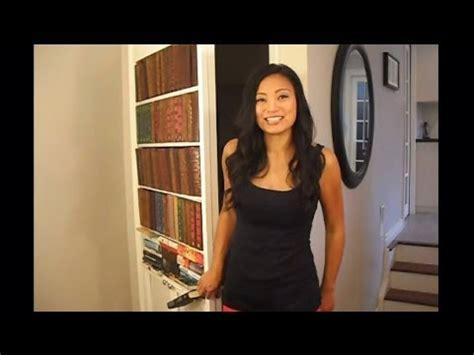 build  secret bookcase door diy youtube