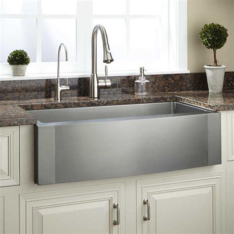 36 Optimum Stainless Steel Farmhouse Sink Wave Apron