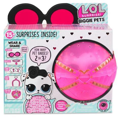 lol surprise biggie pets dollmation mini backpack
