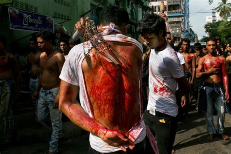 ashura festival  flagellation shows  extremes