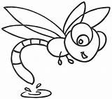 Dragonfly Coloring Pages Cute Clipart Cartoon Printable Drawing Simple Drawings Clip Print Template Animated Yahoo Happy Sketch Cliparts Animal Library sketch template