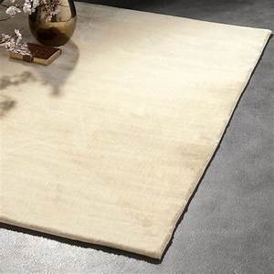 tapis brillant shaggy uni creme aspen With tapis shaggy brillant