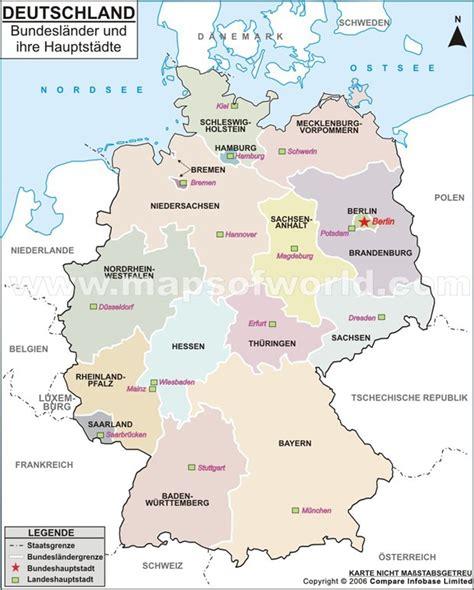 Deutschland Karte Bundesländer Hauptstädte