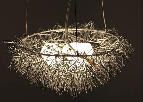 artistic pendant lights free shipping wholesales bird nest light chandelier