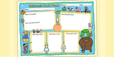 children s book template children s book week book review template reading books read