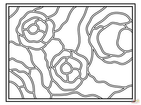 Kleurplaat Met Herfstbladeren Simpel by Simple Stained Glass Coloring Pages Coloring Home