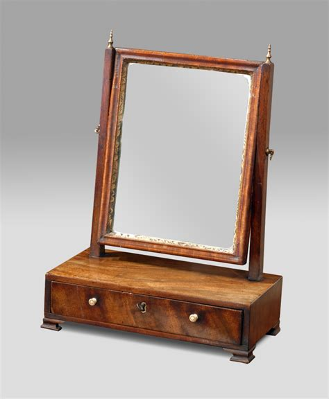 small rectangular table with pedestal base small georgian dressing table mirror toilet mirror