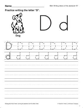 letter  letter formation practice kindergarten basic