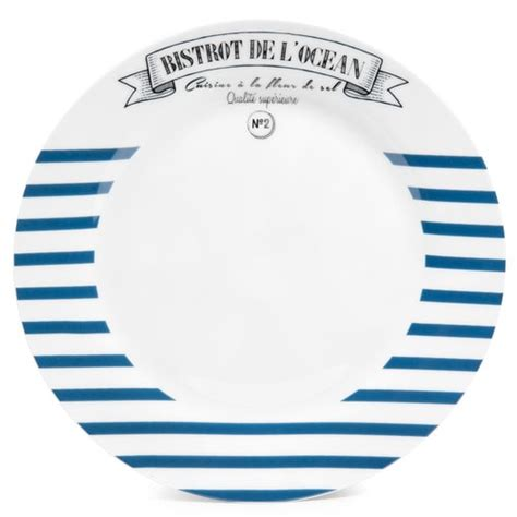 lit de fille ado couleur pour chambre de assiette plate à rayures en porcelaine bleue d 27 cm