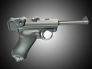 Modelling A Luger P08 Using Subdivision Surfaces In Maya