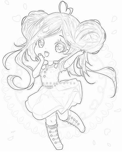 Chibi Anime Coloring Panda Mimi Printable