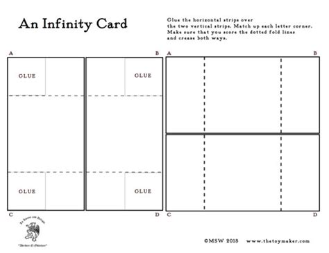how to make a blank card template the infinity card