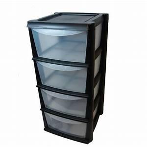 Caisse Plastique Tiroir : meuble rangement plastique table de lit ~ Edinachiropracticcenter.com Idées de Décoration
